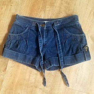 Diane Von Furstenberg jean shorts
